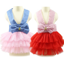 1 PC Tutu Skirt Pet  Summer Party Dress Red Pink Color Dog Clothes for Puppy Clothing Fashion Jean Small dogs