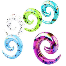 2pcs Colorful Acrylic Spiral Ear Gauges Tapers Stretching Plugs And Tunnel Expanders Body Piercing Jewelry