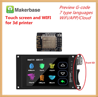 Impressora 3d wi fi monitor de controle mks tft dispositivo wifi + mks tft35 tela sensível ao toque tft 3.5 polegada lcd painel tft3.5 colorido displayer|Peças e acessórios em 3D| |  -