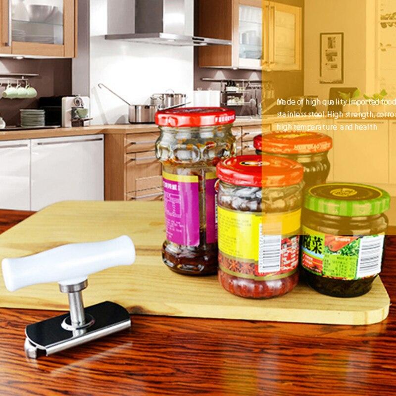Manuale in Acciaio Inox Facile Può Jar Opener Regolabile 1 4 Pollici Cap Coperchio Apribottiglie Strumento di Gadget da Cucina - 4