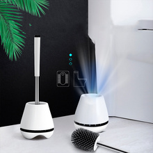 Silicone TPR Toilet Brush Holder Rubber Head Cleaning Brush