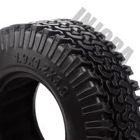INJORA 4PCS 98MM 1.9 Rubber Wheel Tires for 1:10 RC Rock Crawler Axial SCX10 AXI03007 D90 TF2 Tamiya CC01 1.9 Inch Tyres 6