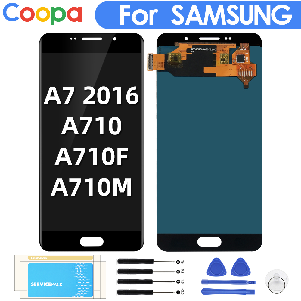 For Samsung Galaxy A7 2016 A710 LCD Display A710F A710M Display Replacement LCDs Display Touch Screen Digitizer Assembly