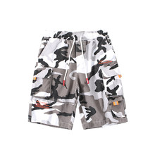 New Style Hip Hop 100% Cotton Casual Camouflage Sport Streetwear Men Short(China)