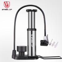 WHeeL UP Portable Bicycle Pump Metal Ultralight MTB Bike Air Pump with Pressure Gauge 120 PSI High Pressure Foot operated Pump