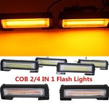 цена на High Power 2 in 1 36w RED/BLUE Flashing Strobe LED Warning Light Strobe Caution Light Car Emergency Beacon Light Bar Plice Light