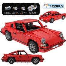 1429 sztuk City Creator RC Classic Retro sport pojazd klocki high-tech pilot samochód wyścigowy cegły zabawki dla dzieci