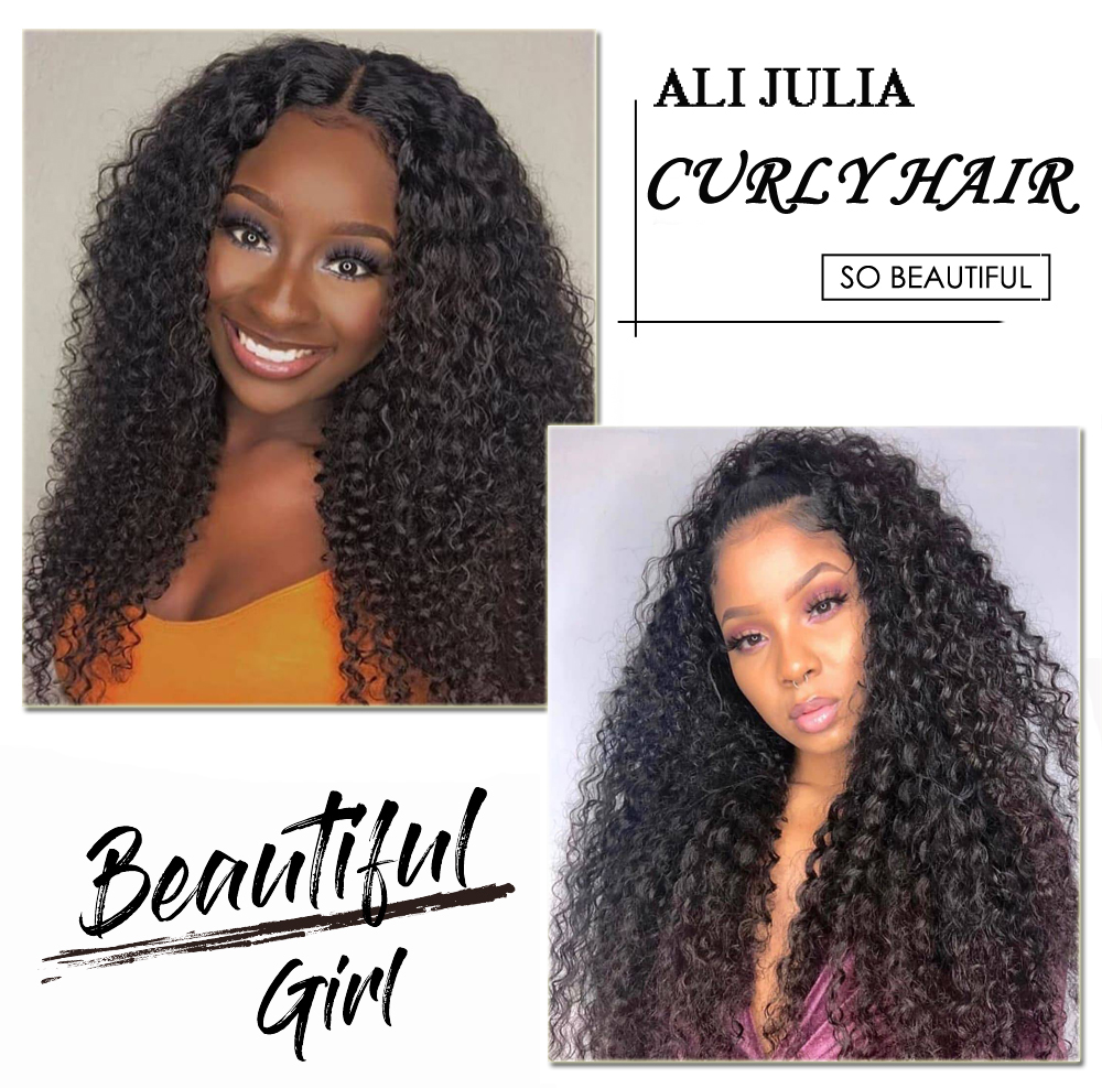 Brazilian Curly Lace Front Wig Pre Plucked Remy 13x6 Lace Front Human Hair Wigs 150180 Density Julia 13x4 Curly Lace Front Wig (4)