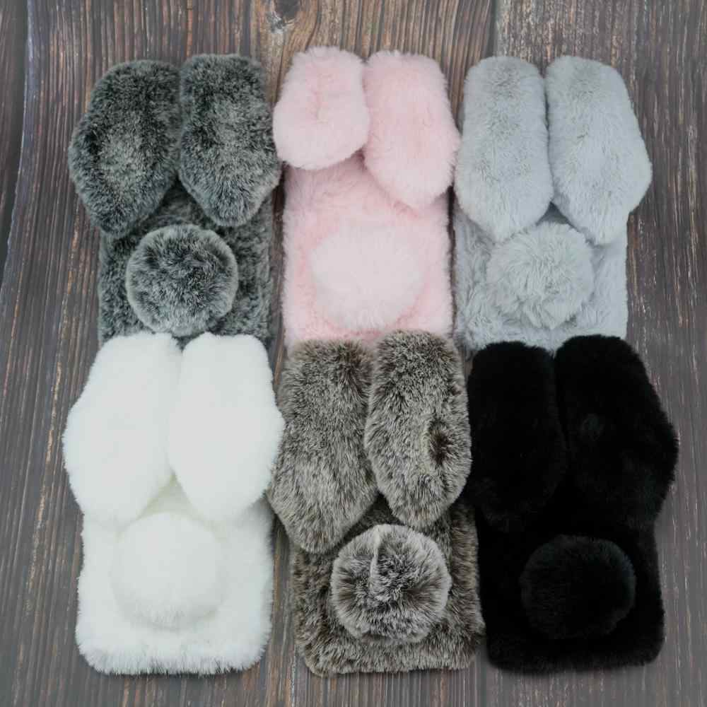 Rabbit Fur Case For Xiaomi Redmi Note 4 4X 5 5A 6 7 S2 Y2 Prime 7A GO K20 Pro Bunny Doll Cover
