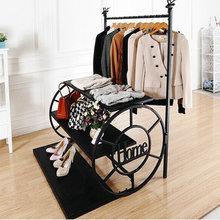 Высокая-Низкая столешница для воды, стенд для одежды, магазин одежды, стеллажи для одежды, выставочный стенд, напольная железная художественная одежда вешалка для одежды