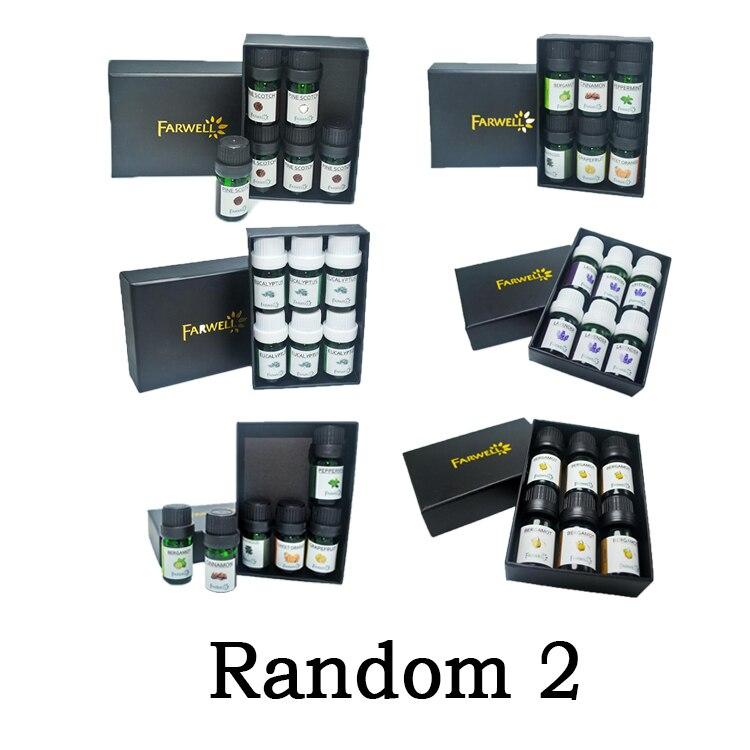 100% Lavender Aromatherapy Diffusers Essential Oil 6pcs/Set 5ml Organic Body Massage Relax Fragranceoleo Essencial Para Difusor