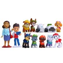 12 шт., фигурки героев мультфильма «Щенячий патруль», «Щенячий патруль», игрушечные собаки для детей, D08