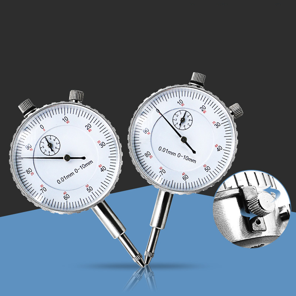 New Industrial Mechanical Dial Indicator 0-10mm / 0.01mm Resolution Concentricity Test Calibration Table
