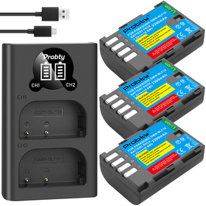 Image 2 - 2300mAh DMW BLF19 DMW BLF19 BLF19E DMW BLF19e DMW BLF19PP Battery+ LED Dual USB Charger for Panasonic Lumix GH3 GH4 GH5 G9