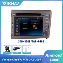 2 din Android auto radio multimedia player für VOLVO S60 V70 XC70 2000 2001 2002 2003 2004 auto audio DVD player GPS navigation