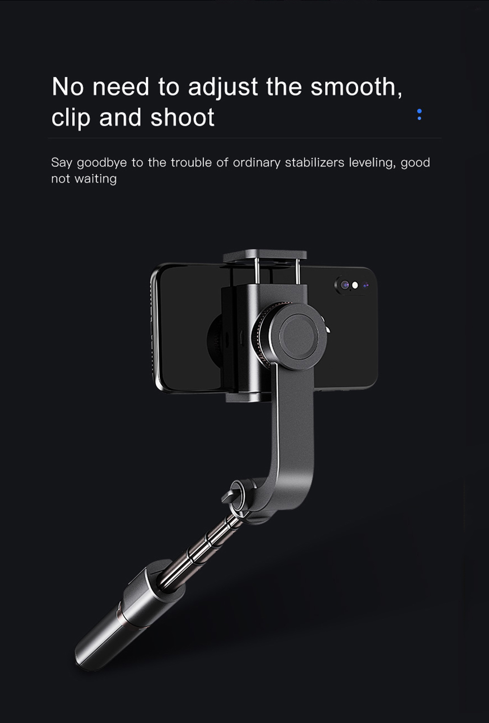 Bonola 3 in1 Handheld Gimbal Stabilizer Smartphone Selfie Stick Tripod For iOSAndroid Video Stabilizer For iPhone11ProSamsung (8)