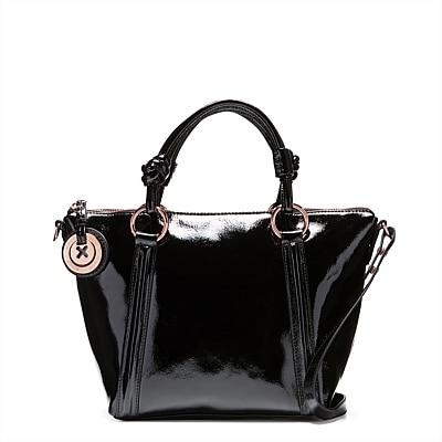 THE BAGS MI LOVES BLACK ROSEGOLD SUPERNATURAL MINI TOTE BLACK COLOR
