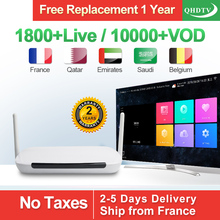 free shipping Q9 android iptv set top box work with one year European iptv account subscription hot 2015 q9 q11 qhdtv