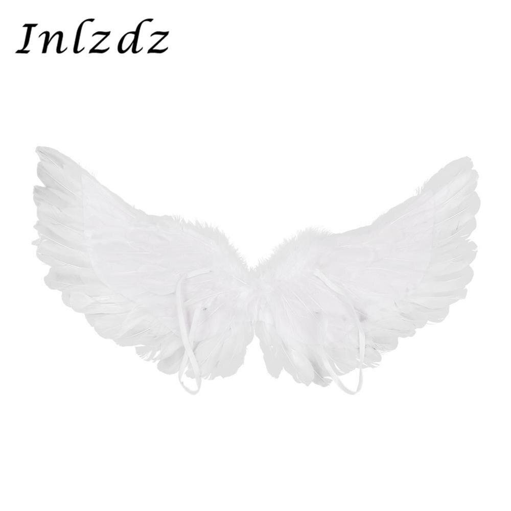Moda branco pena asas de anjo para festa de dança carnaval cosplay traje palco mostrar masquerade feriado natal vestido fantasia