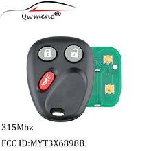 2 шт myt3x6898b 3 кнопки дистанционного ключа автомобиля подходит