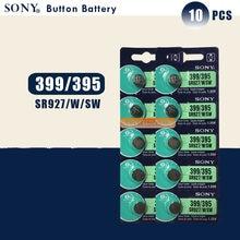 Sony bateria de relógio original 100%, bateria de relógio de 395 sr927sw 399 sr927w lr927 ag7, tipo moeda 1.55v, bateria de botão sr927sw 395 com 10 peças feito no japão