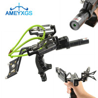 1Set Fishing Bow Catapult Slingshot Laser Archery Slingbow Bowfishing Hunting Shot For Outdoor Camping Fishing Accessories