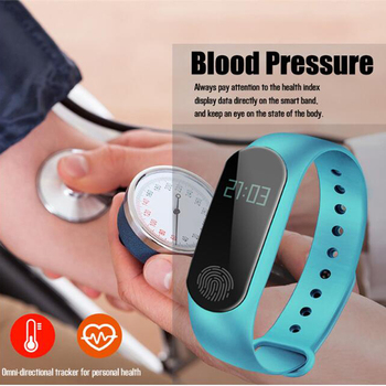 Promotion! Wristband Bracelet with Smart Heart Rate Fitness Tracker Touchpad OLED Strap For IOS Xiaomi Honor PK Mi Band 2 3 4