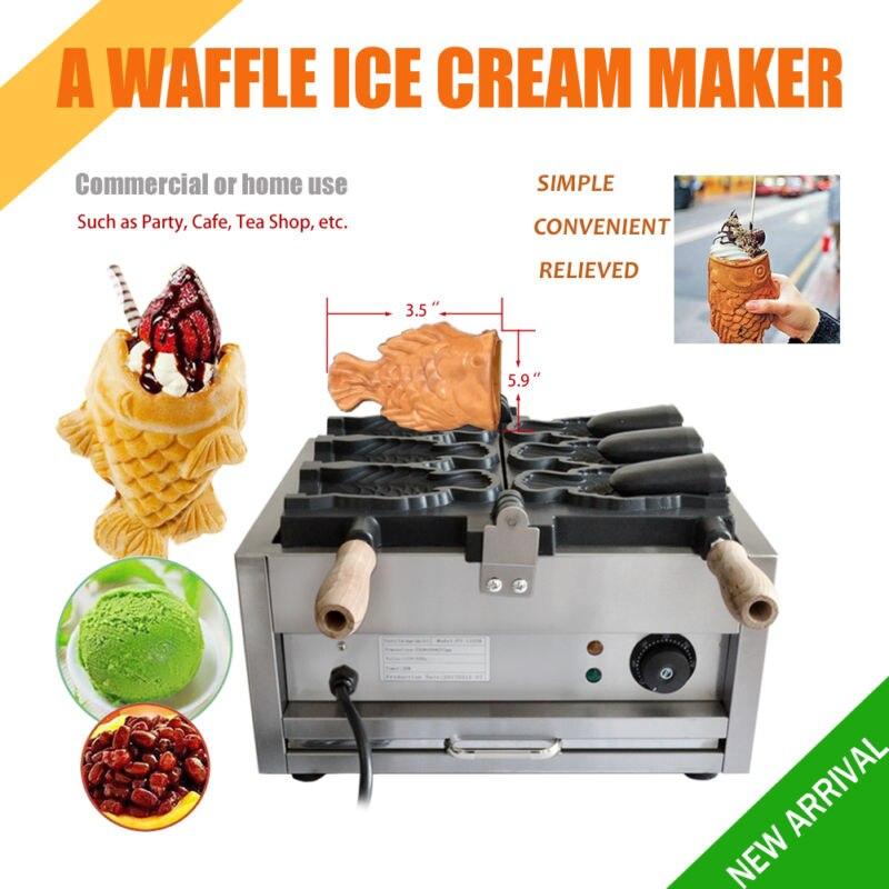 Gaufrier électrique Commercial de fabricant de Taiyaki de crème glacée de gaufre de poisson antiadhésif