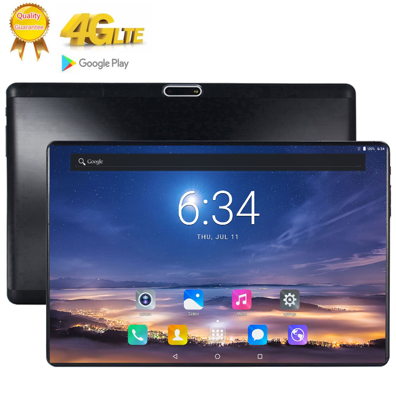 2020 1920*1200 2.5D Tempered Glass Screen 10.1 Inch Deca Core 3G 4G FDD LTE Tablet 8GB RAM 128GB ROM Android 9.0 Tablet 10 Pocke