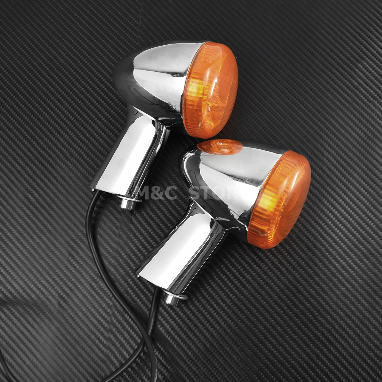 lowest price 1Pair Motorcycle Led Turn Signals Kit for Harley Road Glide Touring Sportster with 1156 1157 Base White Amber Led Turn Signal