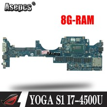 ZIPS1 LA-A341P Laptop Cho Lenovo ThinkPad Yoga S1 Ban Đầu Mainboard 8G-RAM I7-4500U(China)