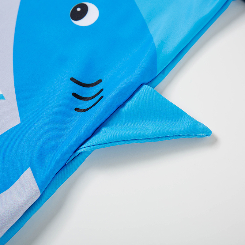 Split Type KID'S Swimwear Cute Shark South Korea INS Boy BOY'S Quick Drying Clothes Sun-resistant Big Boy Baby Swimming Trunks