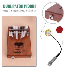 Mbira-Accessories Pickup Thumb-Piano Kalimba Portable Red Piezo Double-Patch
