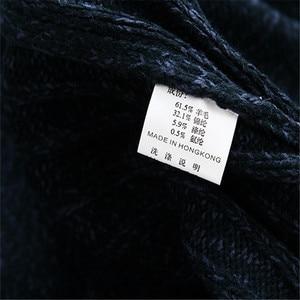 Image 5 - Homem camisola casual masculino cardigan grosso suéter de caxemira combate outerwear inverno marca exército verde branco azul a0369