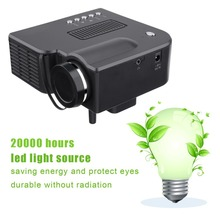 YG300 Professional Mini Projector Full HD1080P Home Theater LED Projector LCD Video Media Player Projector Yellow & White цена