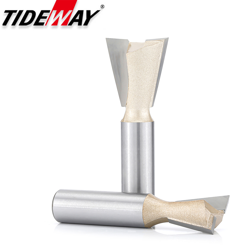 Tideway Dovetail Joint Router Bits Milling Cutter Woodworking Engraving Tools 14 Degree Cutting Tool 1/2