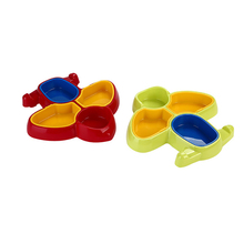 Eat Meal Baby Plate Babies Food Grade Four-Lattice ABS Storage Boxes & Bins Red Green Airplane Bowl Heat Resistant
