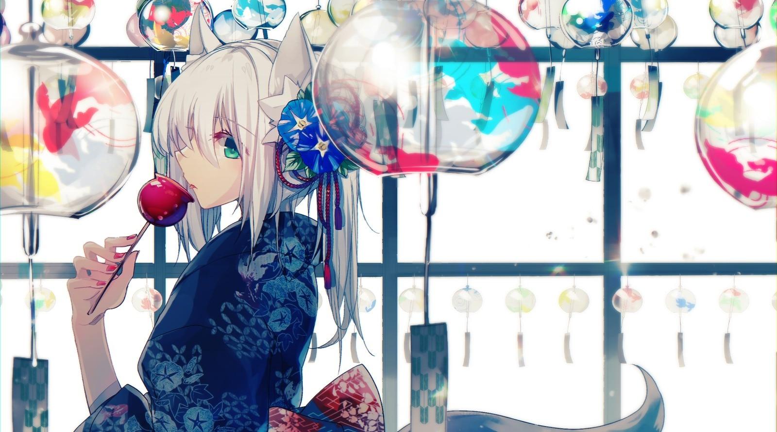 【白毛兽耳娘】日本画师 ぬみ-Sin二次元少女插画作品赏析_图片 No.7