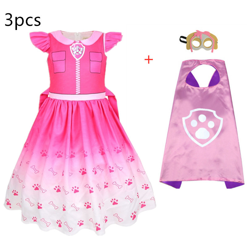New Kids Carnival Clothing Children Patrol dogs Marshall Chase Skye Cosplay Costume Girl Halloween Party Role Play vestido