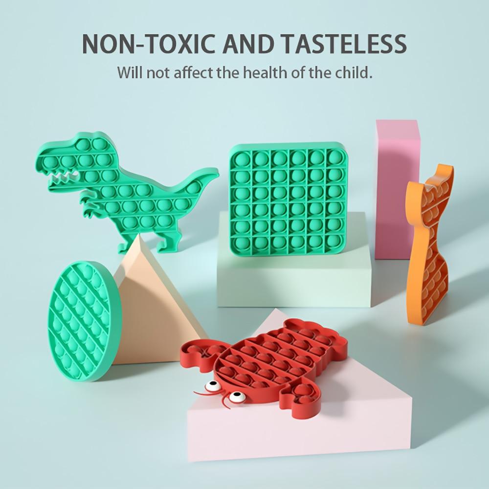 Sensory Toy Stress-Toys Reliver Pop Fidget Rainbow-Push Adult Children It img3