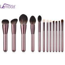 Lemoda 12 шт. виноградный Фиолетовый кисти для макияжа набор кистей для макияжа с деревянной основа, тени для глаз, бровей, кисть для румян кисть ...
