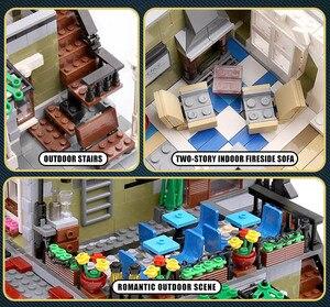 Image 4 - Yeshin MOC City Street Toys Compatible Restaurant Creative Toys Building Blocks Children Christmas Gift