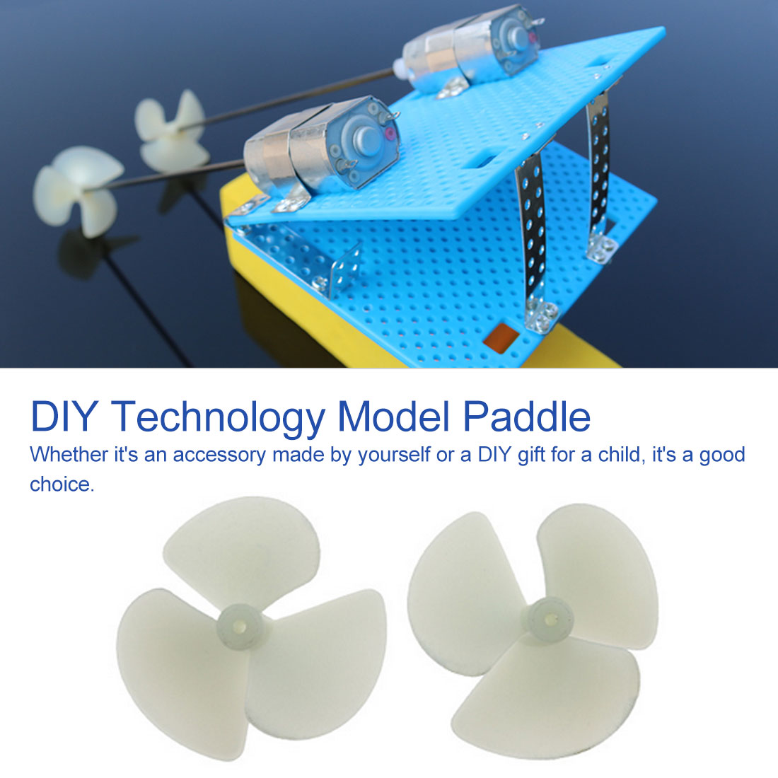 2*36mm Propellers 36/42mm Diameter 3 Blades Three-Leaf Electric Nylon Props/Paddle fr DIY Boats Models 2mm Shafts image