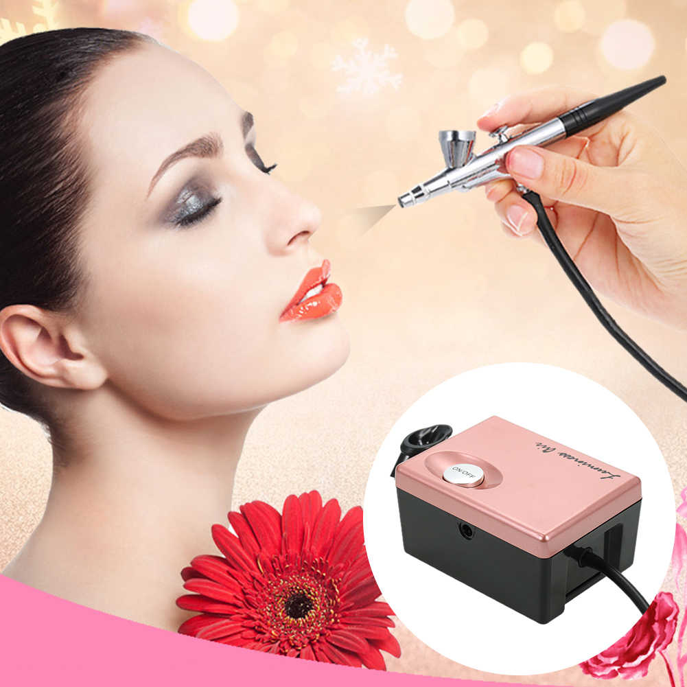 Schminken Tattoo Spray Gereedschap Compressor Cosmetische Make-Up Tool Portable Verneveling Airbrush Set Cake Manicure Multifunctionele Art