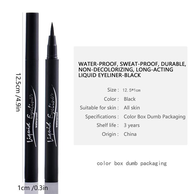 Black Eyeliner Best Waterproof Liquid Eye Liner Pen High Pigment & Long Lasting Makeup Eyeliner