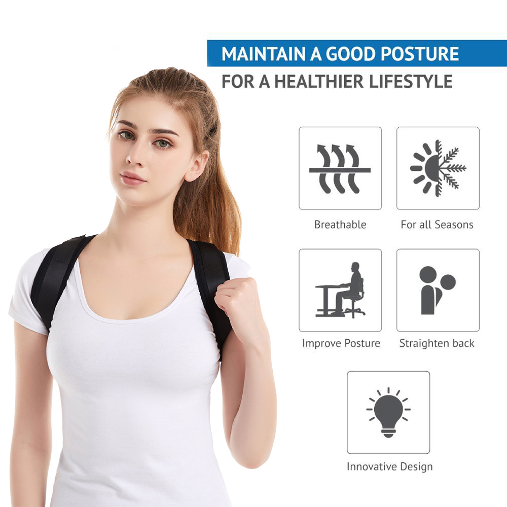 Braces Supports Belt Adjustable Back Posture Corrector Clavicle Spine Back Shoulder Lumbar Brace Support Belt Posture Correction 1