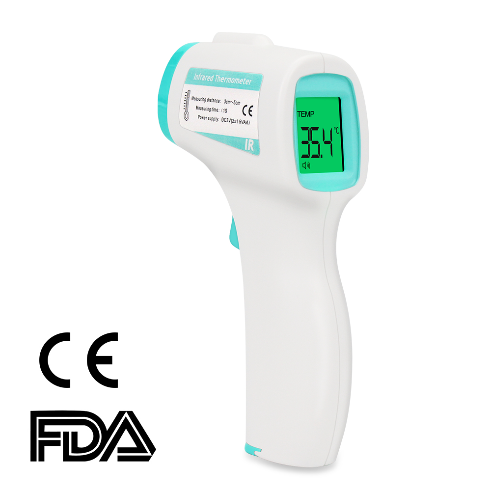 Baby Adult Electronic Digital Infrared Thermometer Forehead Non-Contact Body Digital Laser Thermometer Gun Lcd Display Portable