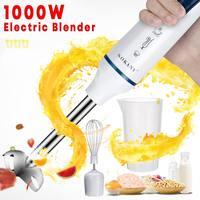3 في 1 1000W الكهربائية اليد الخلاطات خليط البيض الخلاطات المنزل خلاط مطبخ عصا عصارة الفواكه الخضار الطفل مطحنة الطعام