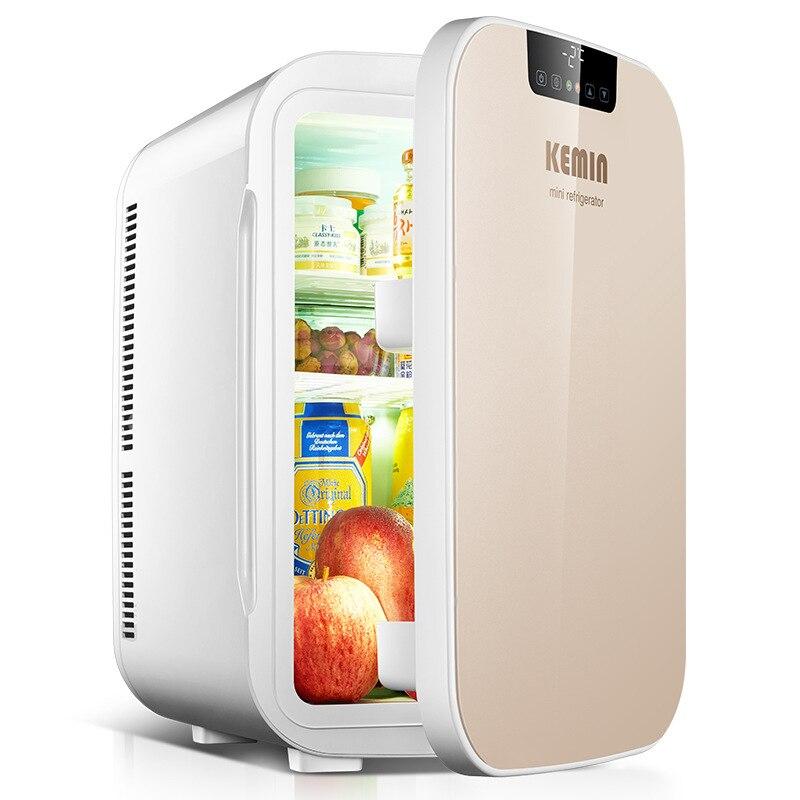 KEMIN 20L Mini Refrigerator Dual Core Digital Portable Fridge Camping Home Car Fridge Dual-use LCD Heating Small Heat Cooler Box