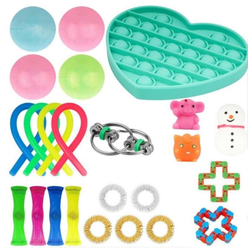 Brinquedo elástico do relevo do mármore da malha das cordas dos brinquedos do fidget para crianças dos adultos